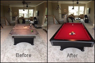 expert pool table recovering in Franklin content img3